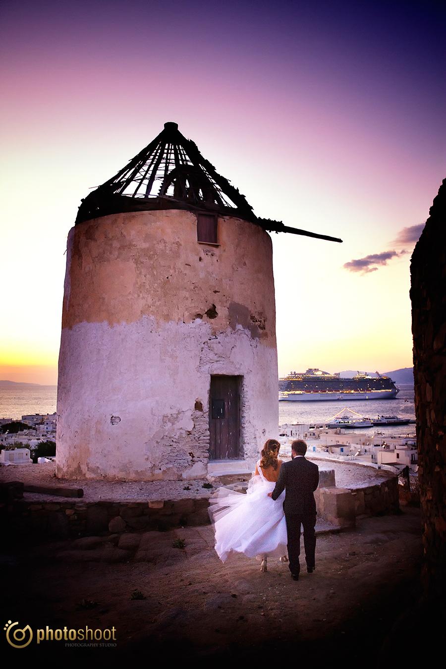 φωτογραφιες γαμου στην Μυκονο